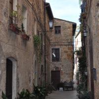 Pienza the alleys