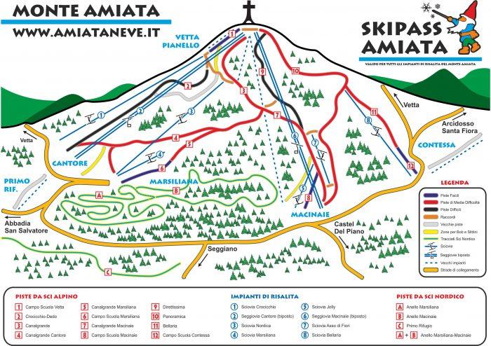 Piste da sci monte Amiata